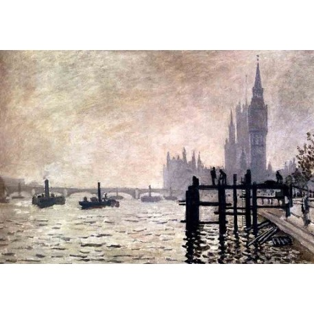 The Thames and the Houses of Parliament by Claude Oscar Monet - Art gallery oil painting reproductions