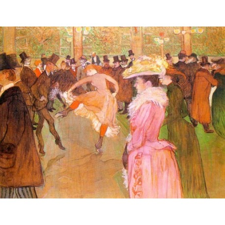 Training of the New Girls by Valentin at the Mouling Rouge 1890 by Henri de Toulouse-Lautrec-Art gallery oil painting