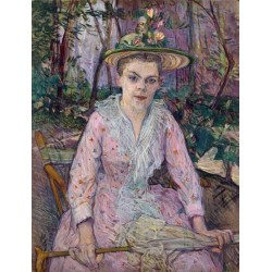 Woman with an Umbrella 1889 by Henri de Toulouse-Lautrec-Art gallery oil painting reproductions