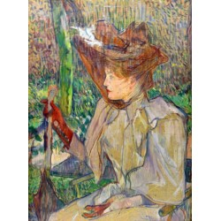 Woman with Gloves 1891 by Henri de Toulouse-Lautrec-Art gallery oil painting reproductions