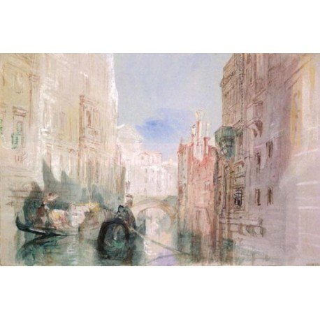 A Canal near the Arsenale Venice by Joseph Mallord William Turner - oil painting reproductions