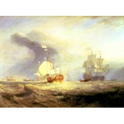 Admiral von Trumps Barge at the Entrance of the Texel in 1645-1831 by Joseph Mallord William Turner