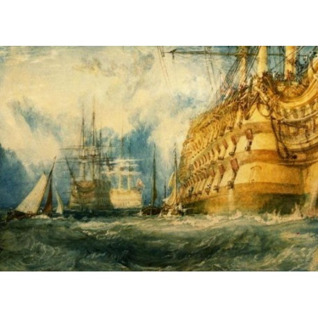 A First Rate Taking In Stores by Joseph Mallord William Turner - Art gallery oil painting reproductions
