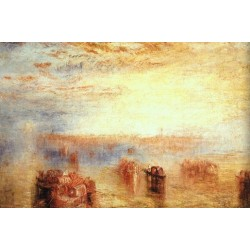 Approach to Venice 1843 by Joseph Mallord William Turner - Art gallery oil painting reproductions