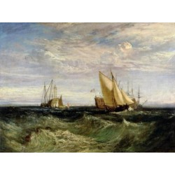 A Windy Day by Joseph Mallord William Turner - Art gallery oil painting reproductions