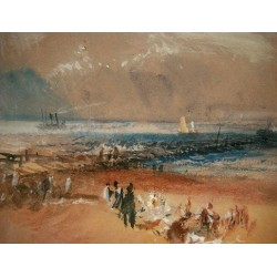 Boats at Margate Pier by Joseph Mallord William Turner - Art gallery oil painting reproductions