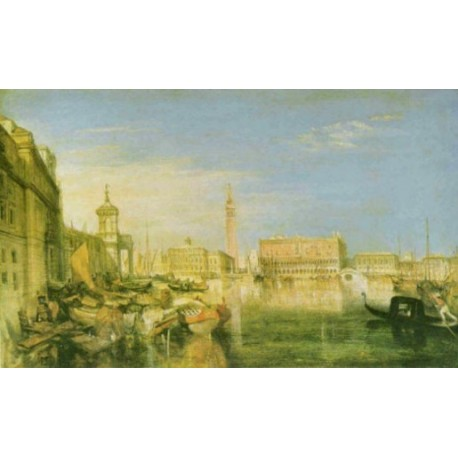 Bridge of Sighs, Ducal Palace and Customs house Venice 1833 by Joseph Mallord William Turner