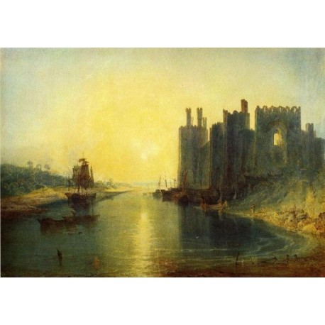 Caernarvon Castle by Joseph Mallord William Turner - Art gallery oil painting reproductions