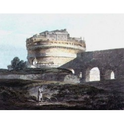 Castle of San Angelo Rome by Joseph Mallord William Turner - Art gallery oil painting reproductions