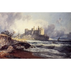 Conway Castle by Joseph Mallord William Turner - Art gallery oil painting reproductions
