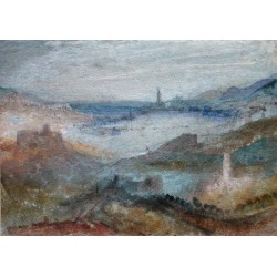 Extensive View of a Lake by Joseph Mallord William Turner -Art gallery oil painting reproductions