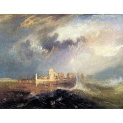 Quillebeuf at the Mouth of Seine by Joseph Mallord William Turner - Art gallery oil painting reproductions