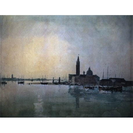 San Giorgio Maggiore at Dawn by Joseph Mallord William Turner - Art gallery oil painting reproductions