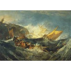 Shipweck of the Minotaur by Joseph Mallord William Turner - Art gallery oil painting reproductions