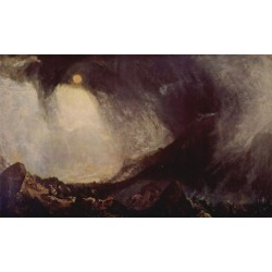Snow storm hannibal and his army crossing the Alps by Joseph Mallord William Turner - Art gallery oil painting reproductions