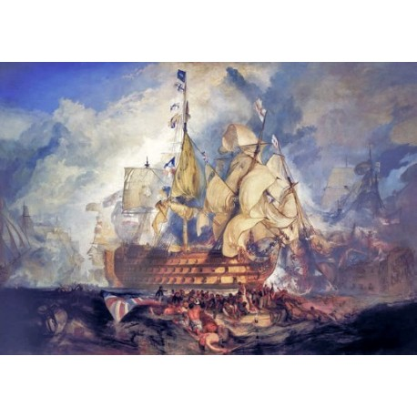 The Battle of Trafalgar by Joseph Mallord William Turner - Art gallery oil painting reproductions