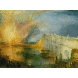 The Burning of the Houses of Lords and Commons by Joseph Mallord William Turner - Art gallery oil painting reproductions