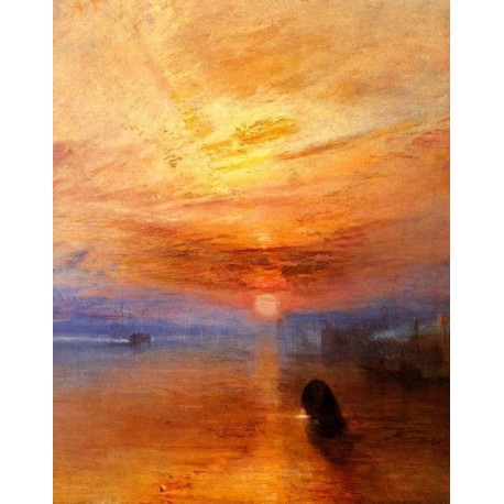 The Fighting Temeraire Tugged to Her Last Berth to be Broken-Detail 1 by Joseph Mallord William Turner