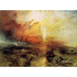 William Turner-Joseph-Mallord-William-Turner-The-Slave-Ship-Art gallery oil painting reproductions
