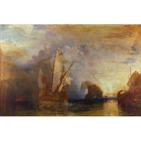 Ulysses deriding Polyphemus Homer Odyssey by Joseph Mallord William Turner - Art gallery oil painting reproductions