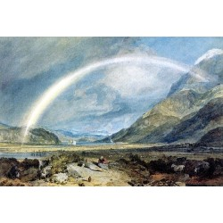 Kilchern Castle with the Cruchan Ben Mountains- Scotland Noon by Joseph Mallord William Turner - oil paintings