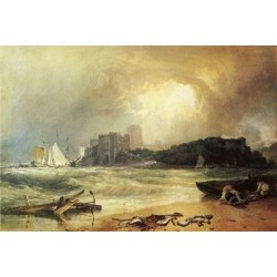 Pembroke Caselt South-Wales Thunder Storm Approaching by Joseph Mallord William Turner - Art gallery oil painting reproductions