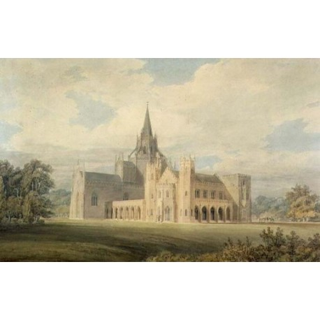 Perspective View of Fonthill Abbey from the South West 1799 by Joseph Mallord William Turner - Art gallery oil painting