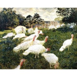 The Turkeys by Claude Oscar Monet - Art gallery oil painting reproductions