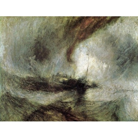 Snow Storm Steam Boat off a Harbours Mouth 1842 by Joseph Mallord William Turner - Art gallery oil painting reproductions