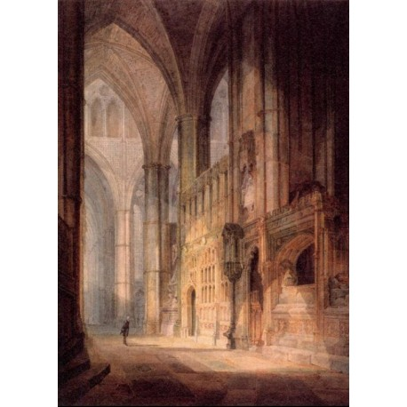 St Erasmus In Bishop Islips Chapel Westminster Abbey by Joseph Mallord William Turner - Art gallery oil painting reproductions