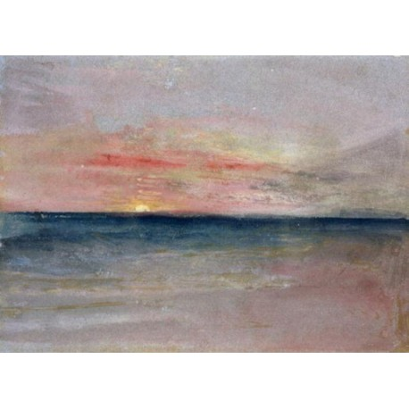 Sunset by Joseph Mallord William Turner -Art gallery oil painting reproductions