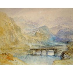 The Domleschg Valley by Joseph Mallord William Turner - Art gallery oil painting reproductions