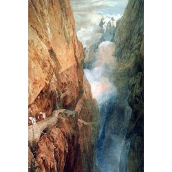 The Passage of the Gothard by Joseph Mallord William Turner - Art gallery oil painting reproductions