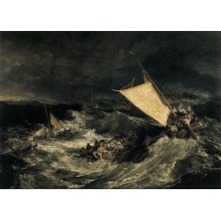 The Shipwreck-1805 by Joseph Mallord William Turner - Art gallery oil painting reproductions