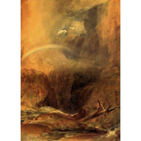 The Devils Bridge St Gothard by Joseph Mallord William Turner - Art gallery oil painting reproductions