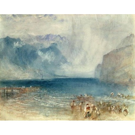 The First Steamer on the Lake of Lucerne in 1841 by Joseph Mallord William Turner - oil painting