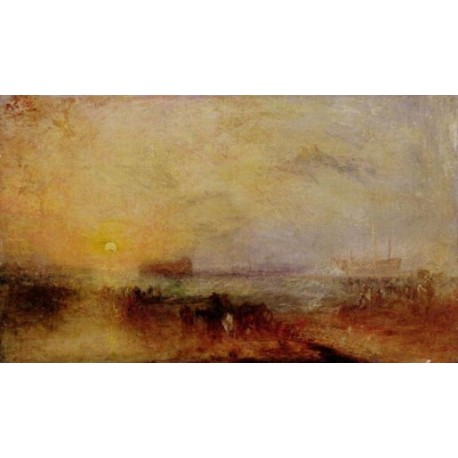 The Morning after the Wreck-1835-40 by Joseph Mallord William Turner - Art gallery oil painting reproductions
