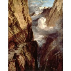 The Pass of St Gotthard Switzerland by Joseph Mallord William Turner - Art gallery oil painting reproductions