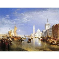 Venice-The Dogana and San Giorgio Maggiore 1834 by Joseph Mallord William Turner - Art gallery oil painting reproductions