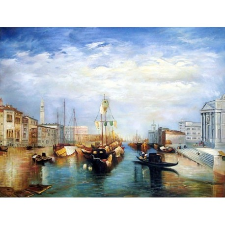 The Grand Canal- Venice by Joseph Mallord William Turner - Art gallery oil painting reproductions