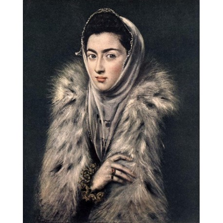 Lady with a Fur by El Greco-Art gallery oil painting reproductions