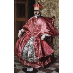 Portrait of a Cardinal by El Greco-Art gallery oil painting reproductions