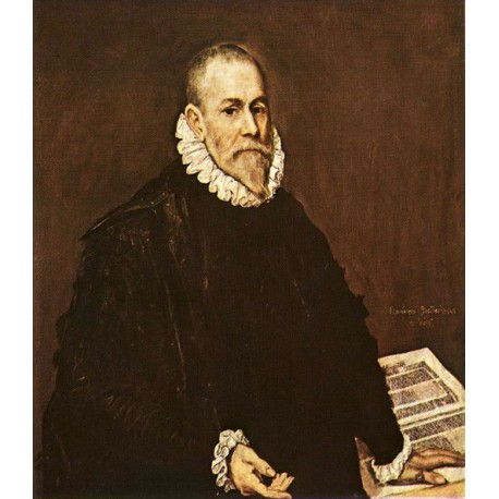 Portrait of a Doctor by El Greco-Art gallery oil painting reproductions