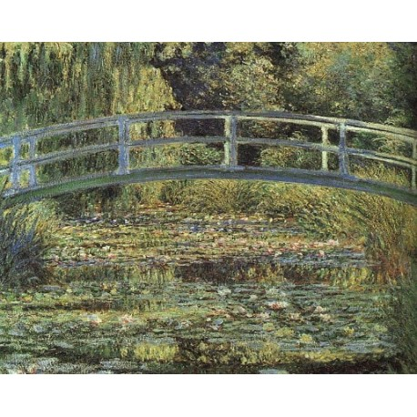 The Water Lily Pond Pink Harmony by Claude Oscar Monet - Art gallery oil painting reproductions