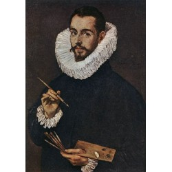 Portrait of the Artist`s Son Jorge Manuel by El Greco-Art gallery oil painting reproductions