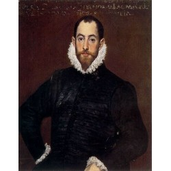 Portrait of a Gentleman from the Casa de Leiva by El Greco-Art gallery oil painting reproductions