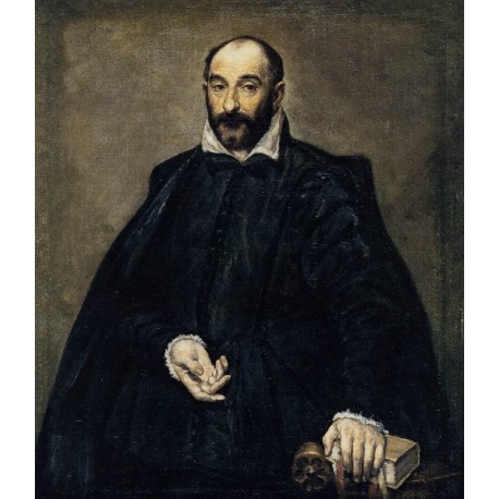 Portrait of a Man by El Greco-Art gallery oil painting reproductions