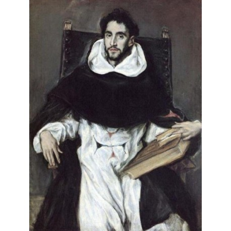 Portrait Of Fray Felix Hortensio Paravicino by El Greco-Art gallery oil painting reproductions