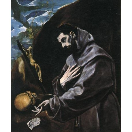 St Francis Praying by El Greco-Art gallery oil painting reproductions