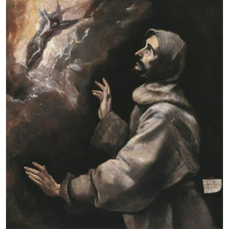 St. Francis Receiving the Stigmata by El Greco-Art gallery oil painting reproductions